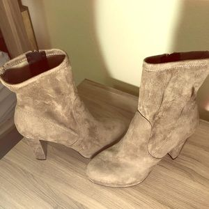 Guess taupe fabric boots